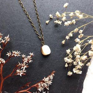 Tumbled Stone/Shell Pendant Necklace